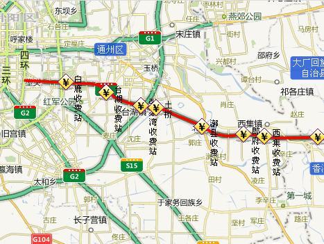 香河 枢纽—— 河北省 界)           河北:天津市界—— 京秦高速