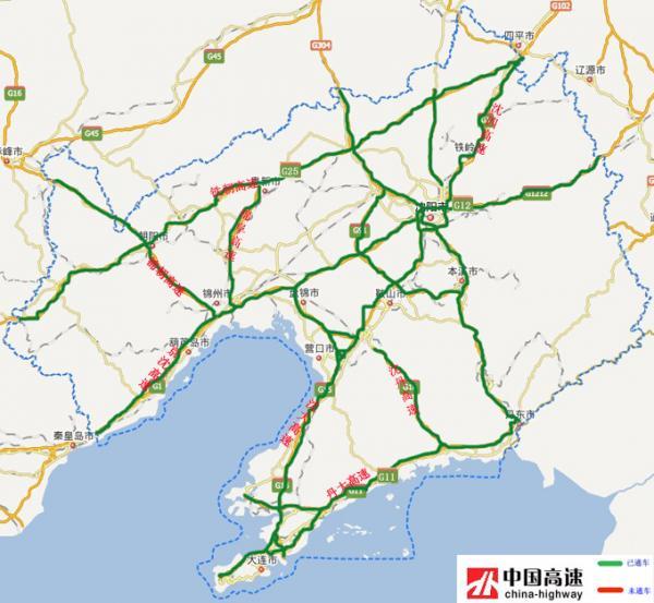 盘锦市公路地图